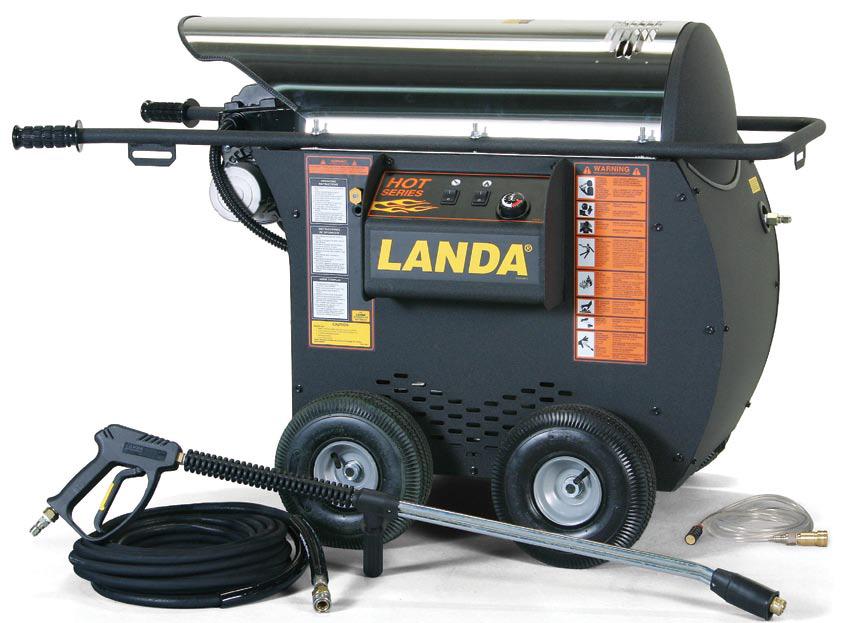 Heavy Duty Portable Washer : Landa hot portable electric powered diesel heated
